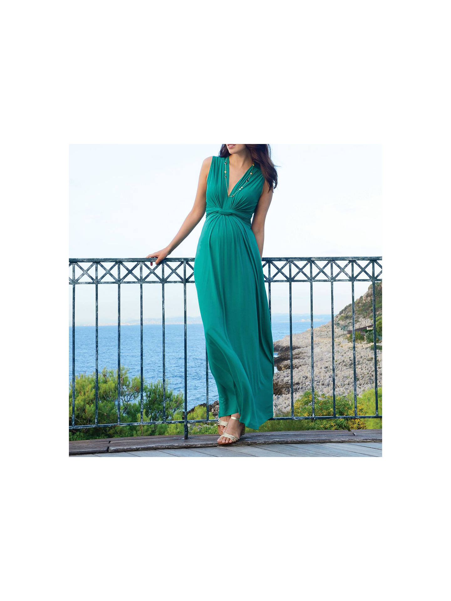 f257b097a56032 ... Buy Séraphine Knot Front Maxi Maternity Dress