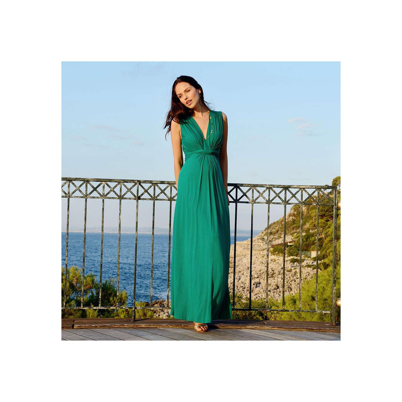 Séraphine Knot Front Maxi Maternity Dress, Emerald at John Lewis