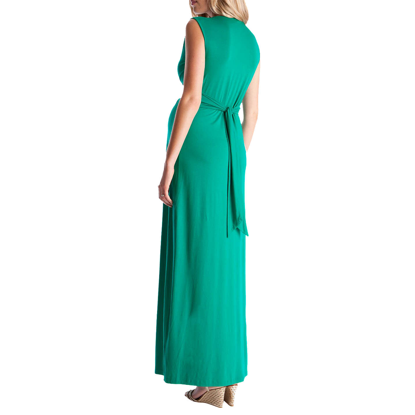 Séraphine Knot Front Maxi Maternity Dress, Emerald at John Lewis