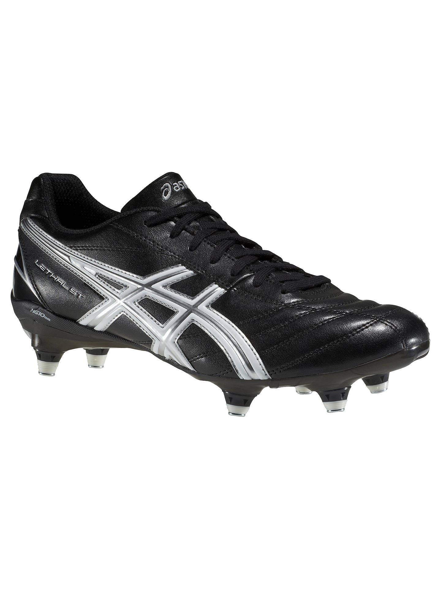 841950c998fdfb Buy Asics Lethal ST Men's Rugby Boots, Black/White, 9 Online at johnlewis  ...