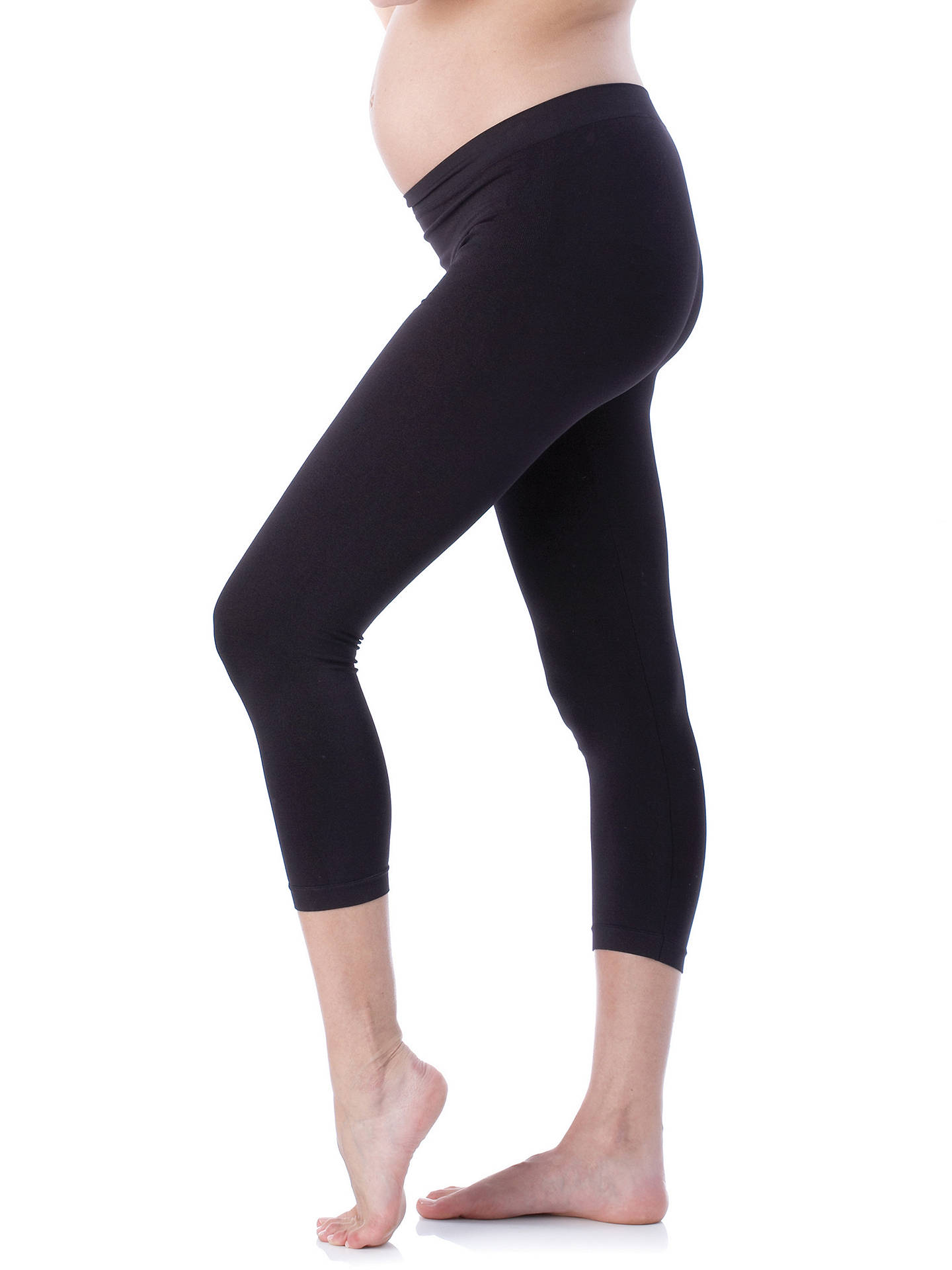 e5ba15a15a8634 Buy Séraphine Holi Cropped Maternity Leggings, Black, S-M Online at  johnlewis.com ...