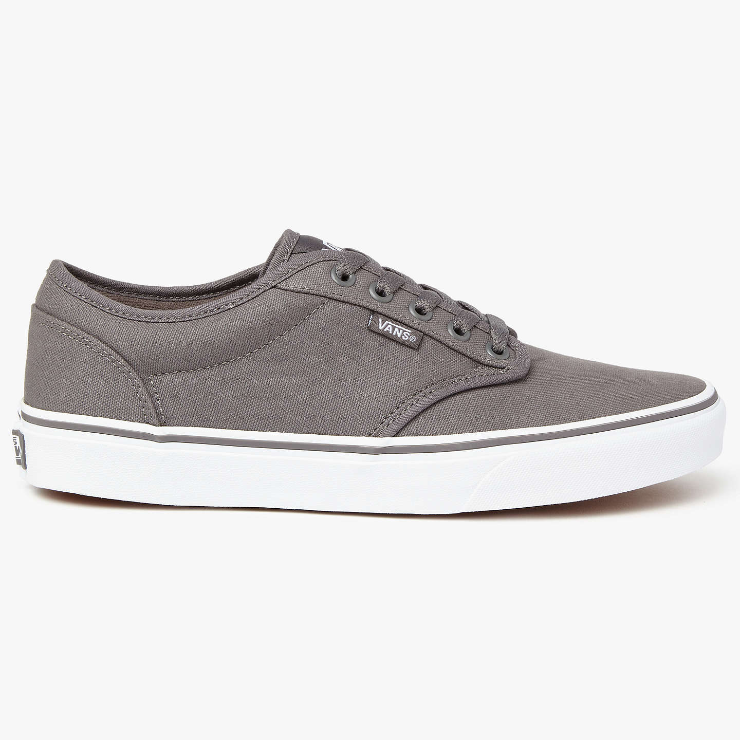 BuyVans Atwood Canvas Trainers, Pewter, 7 Online at johnlewis.com ...