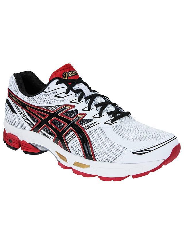 Asics Gel Phoenix 6 Men's Running Shoes, White/Red at John Lewis ...