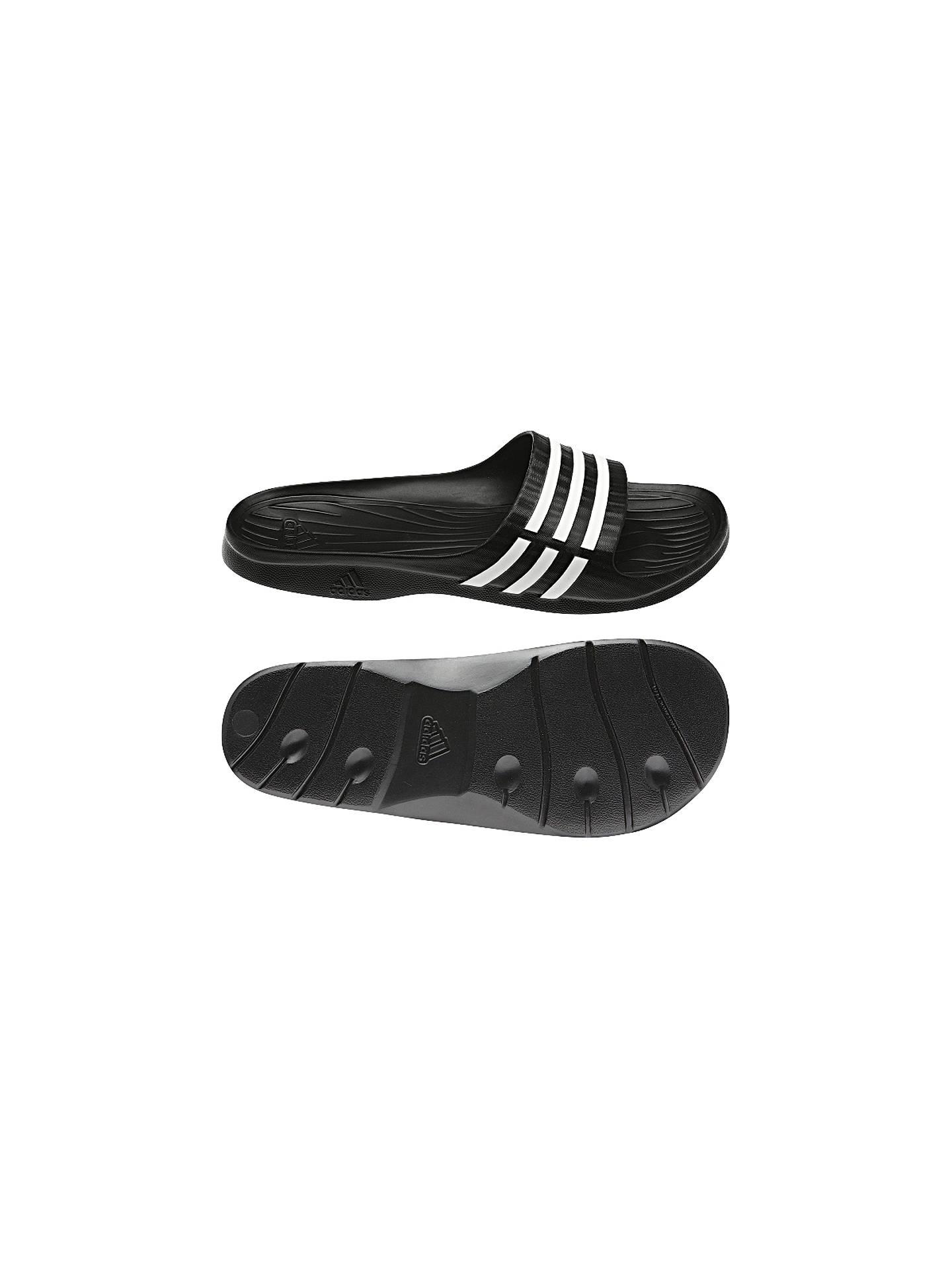 Simple New Womens Adidas Duramo Sleek Slide Flip Flops Comfy Beach Slip On Pool Sandals   EBay