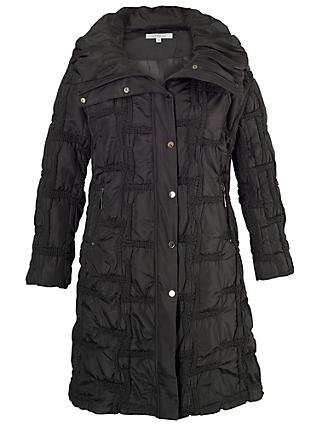 Chesca Quilted Bonfire Coat, Black