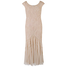 Buy Chesca Cornelli Bead Embroidered Dress, Champagne Online at johnlewis.com