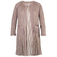 Buy Chesca Matt Satin Lace Coat, Pale Mink Online at johnlewis.com