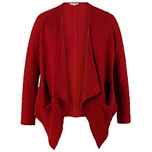 Buy Chesca Jacquard Pocket Drape Shrug, Red Online at johnlewis.com