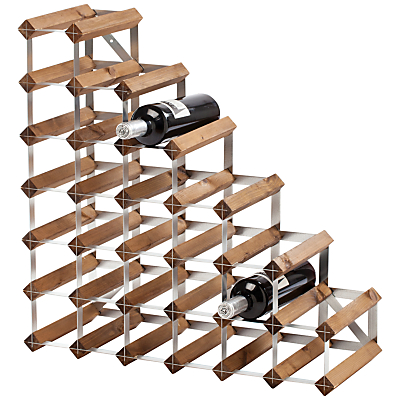 Traditional Wine Rack Co. Redwood Wine Rack, 27 Bottle, Dark Wood