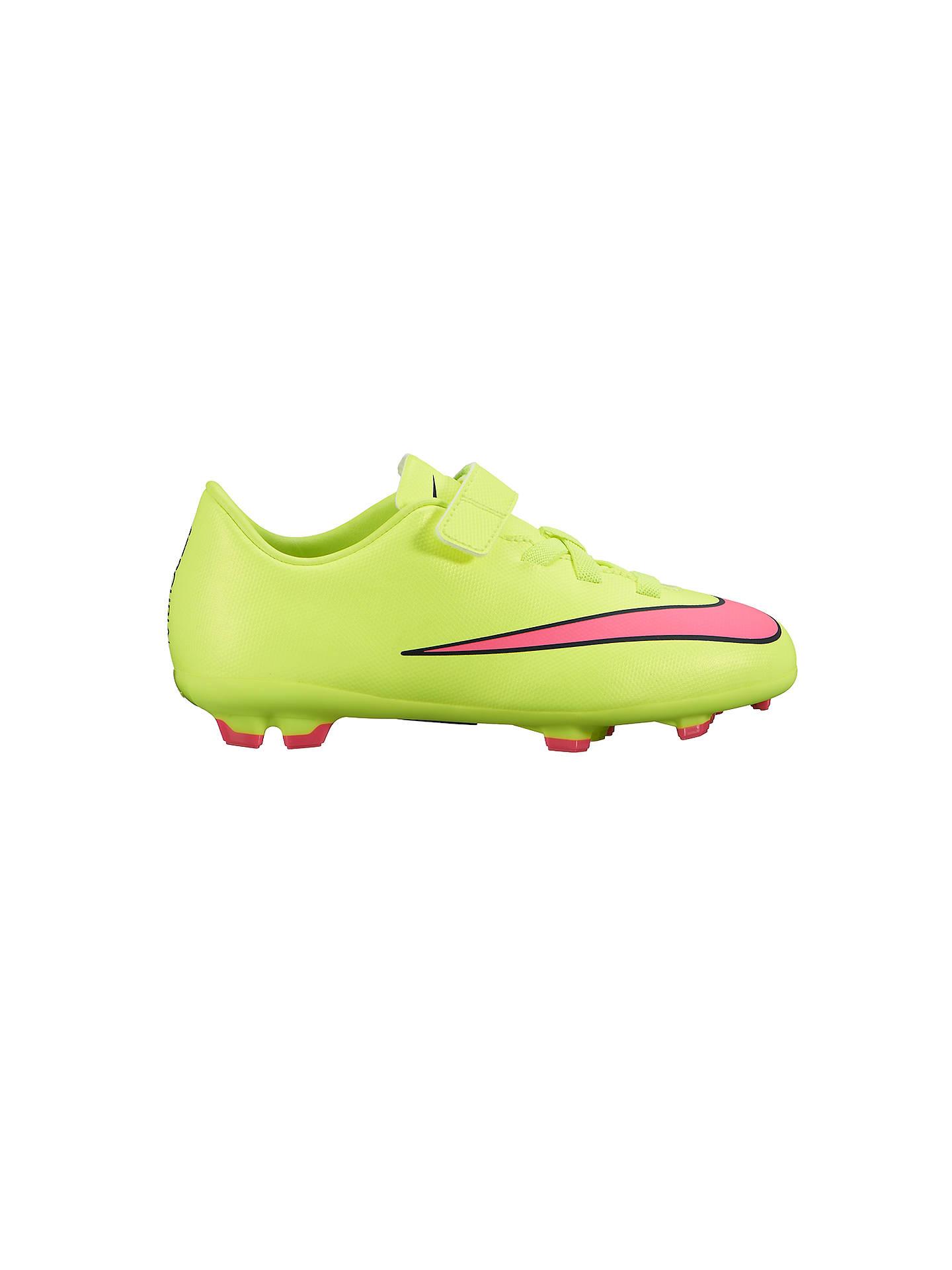 390ecd3975b5 ... Buy Nike Mercurial Victory V Firm Ground Football Boots, Neon Green, 10  Jnr Online ...