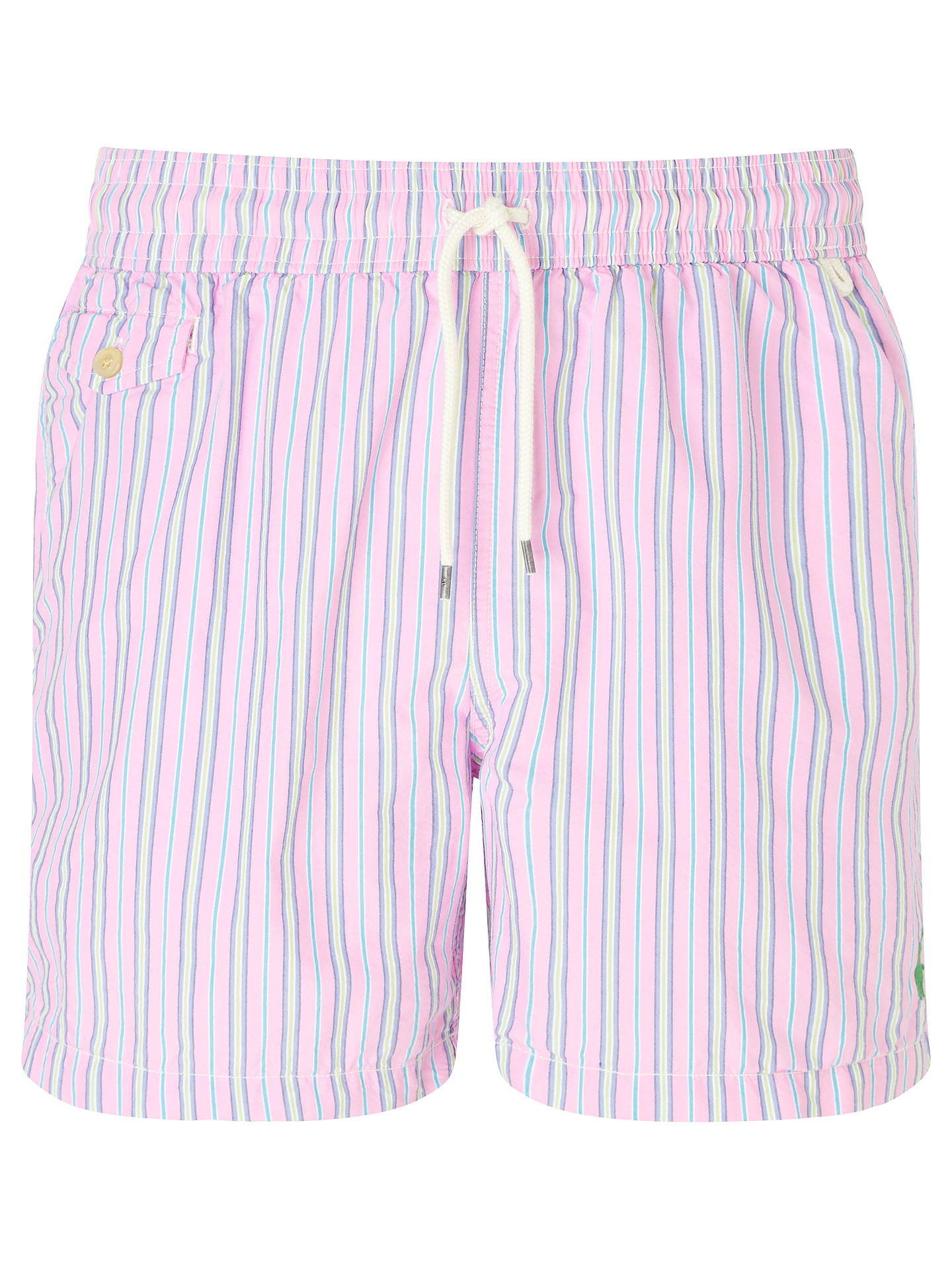 72c0aab024ecd Buy Polo Ralph Lauren Traveler Stripe Swim Shorts, Pink, S Online at  johnlewis.