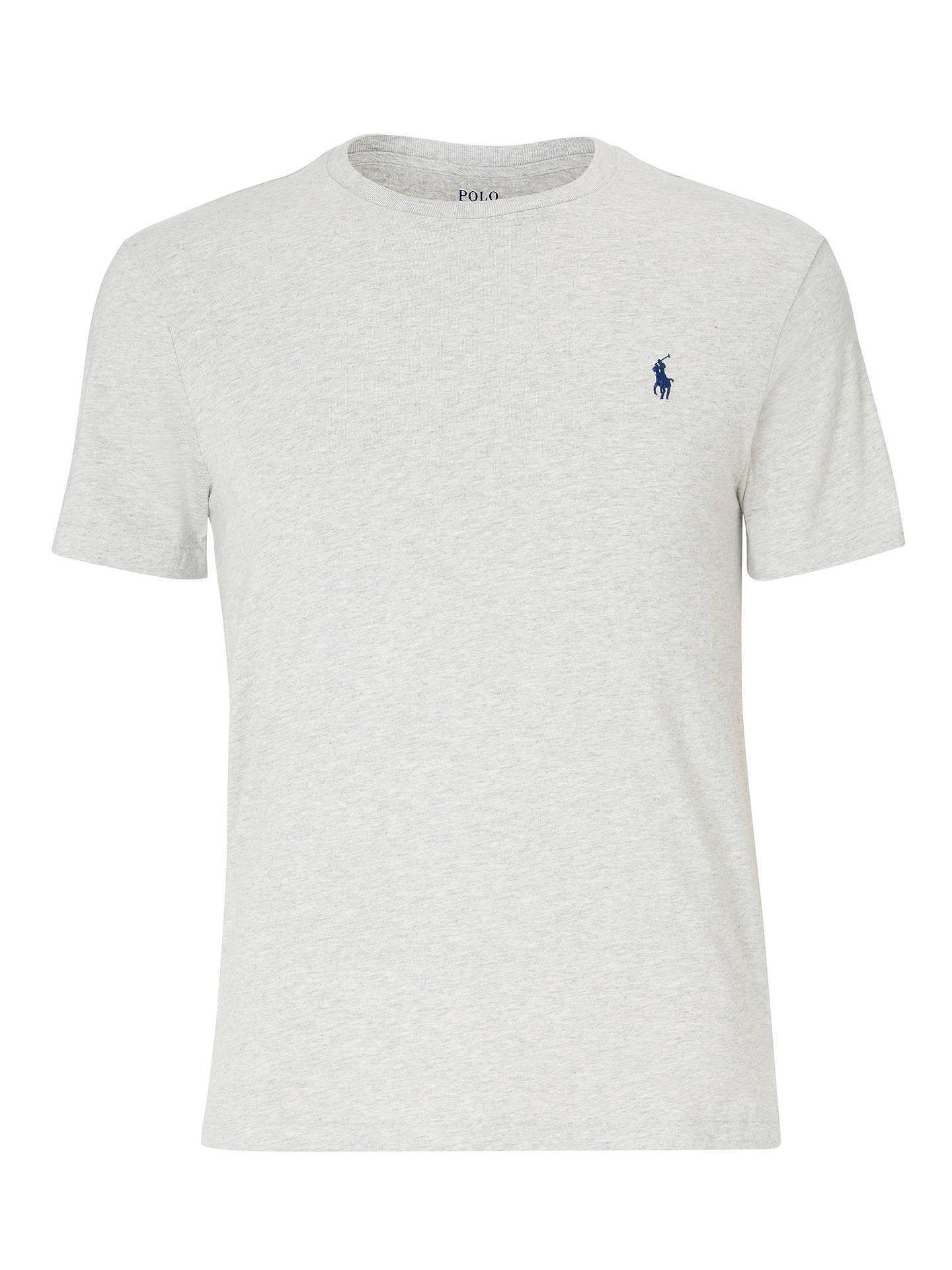 e96f2038 ... Buy Polo Ralph Lauren Short Sleeve Custom Fit Crew Neck T-Shirt, New  Heather