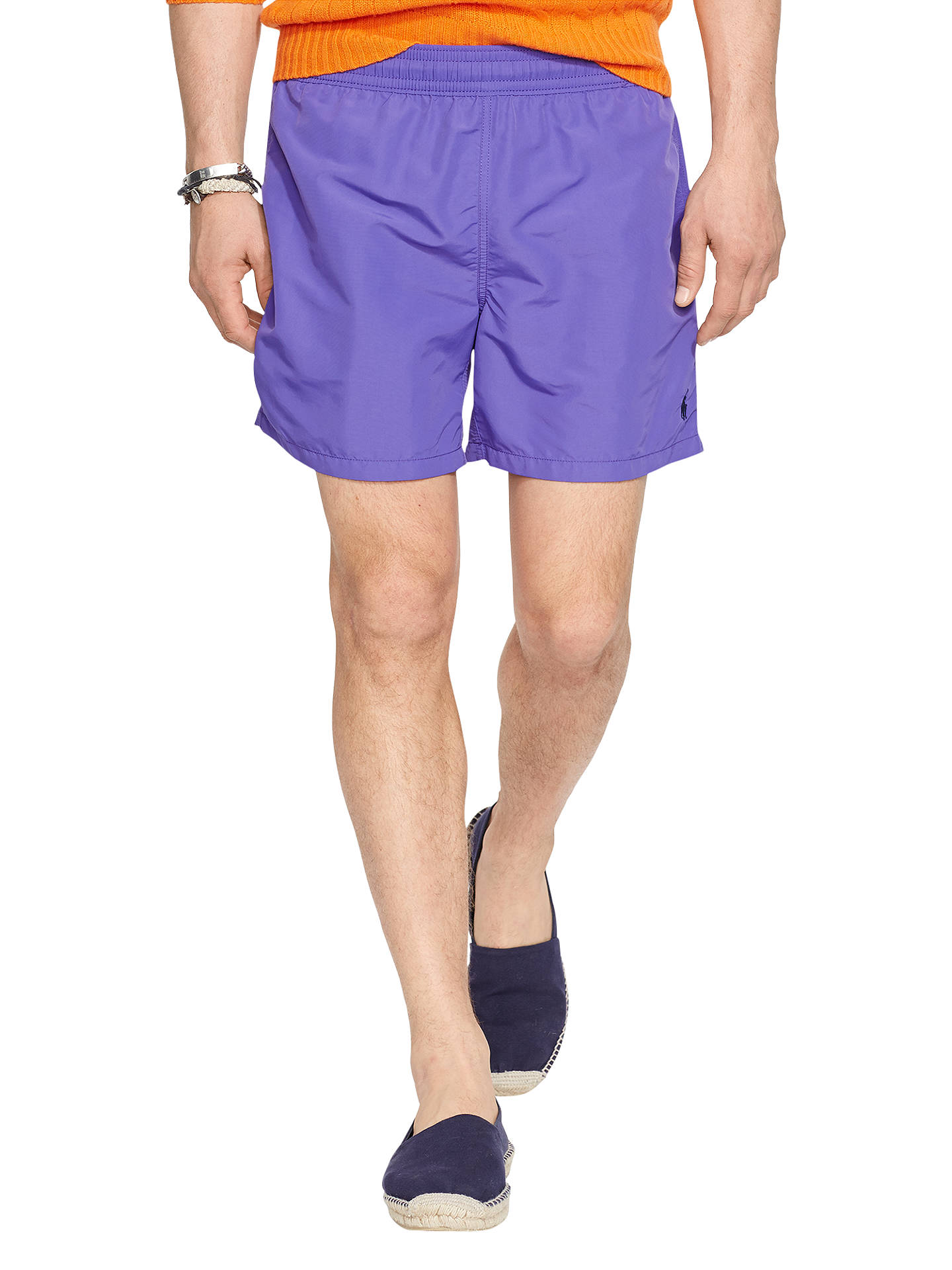 b1b40ebb Buy Polo Ralph Lauren Hawaiian Swim Shorts, Purple, S Online at  johnlewis.com ...