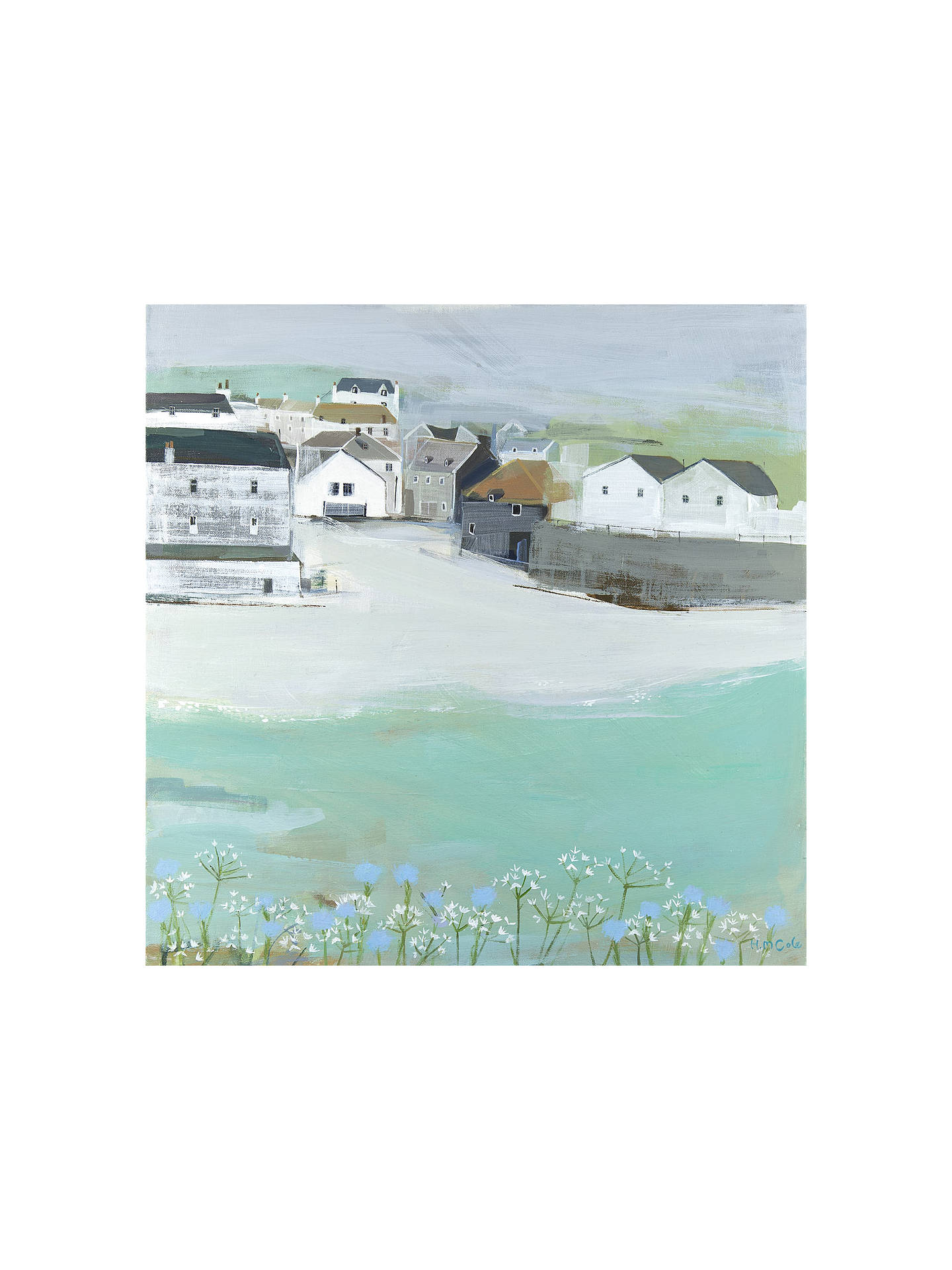 BuyHannah Cole - Wild Garlic by the Sea, Stretched Canvas, 40 x 40cm Online at johnlewis.com