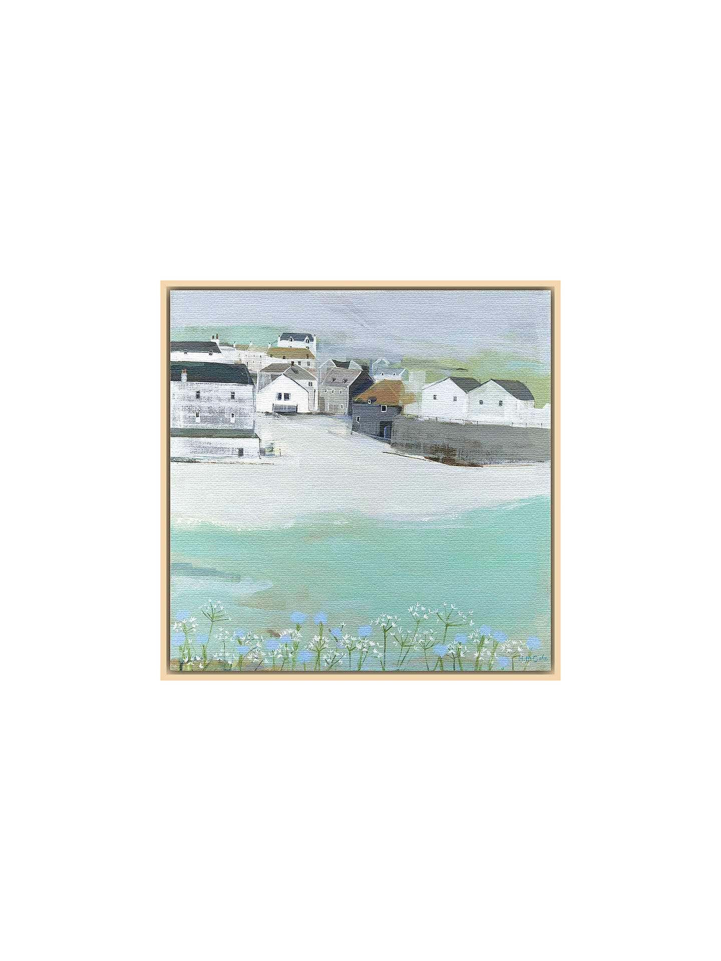 BuyHannah Cole - Wild Garlic by the Sea, Natural Ash Framed Print, 40 x 40cm Online at johnlewis.com