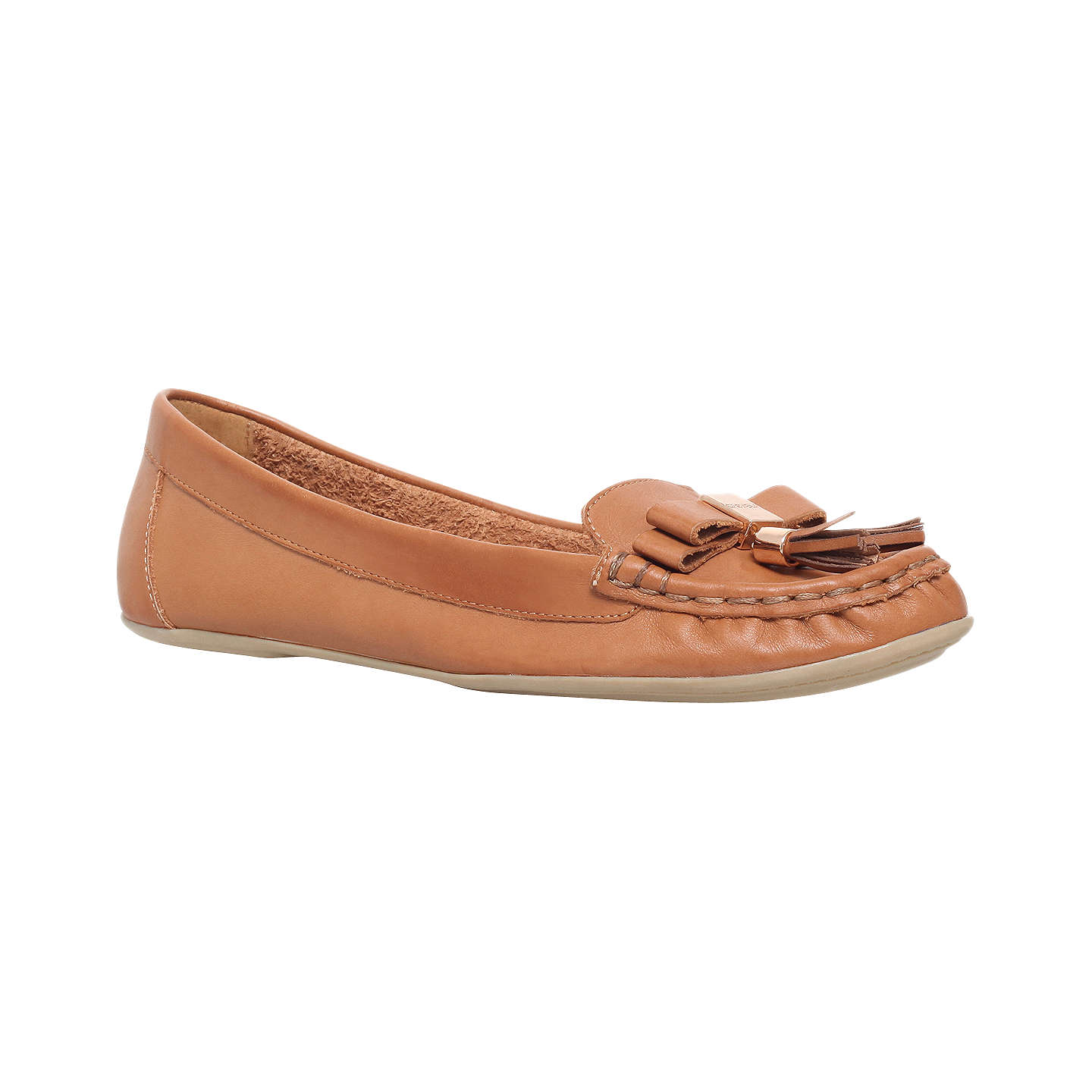 CARVELA Leaf tasselled leather loafers Tan - F3186