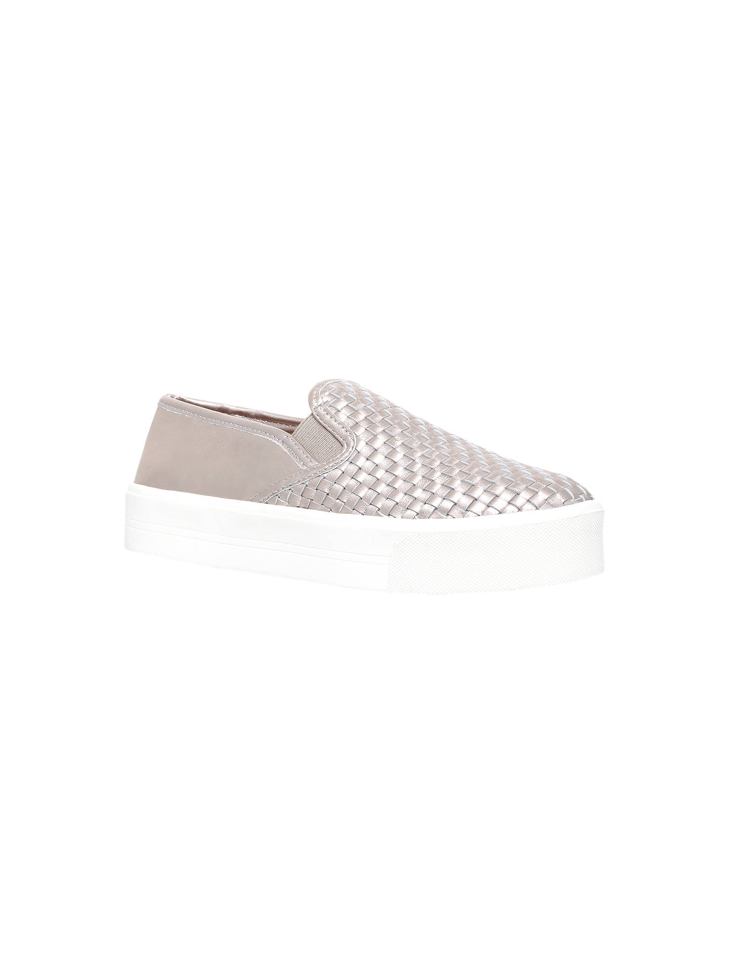 cheap prices select for official popular stores Carvela Lagos Woven Leather Platform Plimsolls, Silver at ...