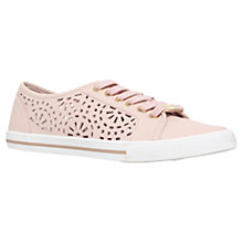 Buy Carvela Lantern Leather Cut Out Trainers, Nude Online at johnlewis.com
