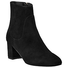 Buy L.K. Bennett Simi Block Heeled Ankle Boots, Black Suede Online at johnlewis.com