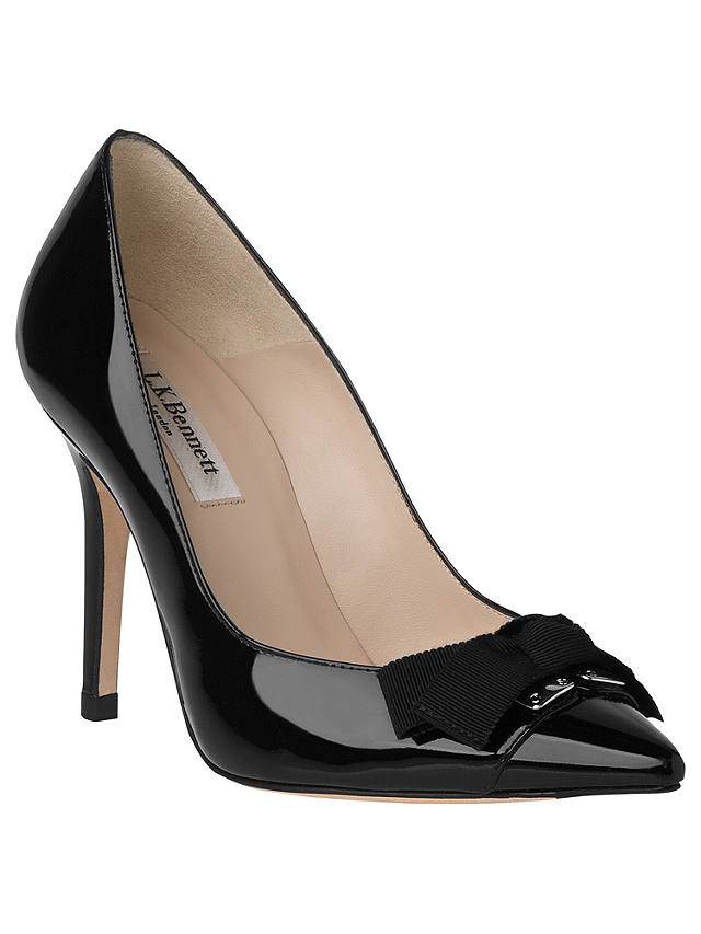 Buy L.K. Bennett Filo Patent Leather Court Shoes, Black, 4.5 Online at johnlewis.com