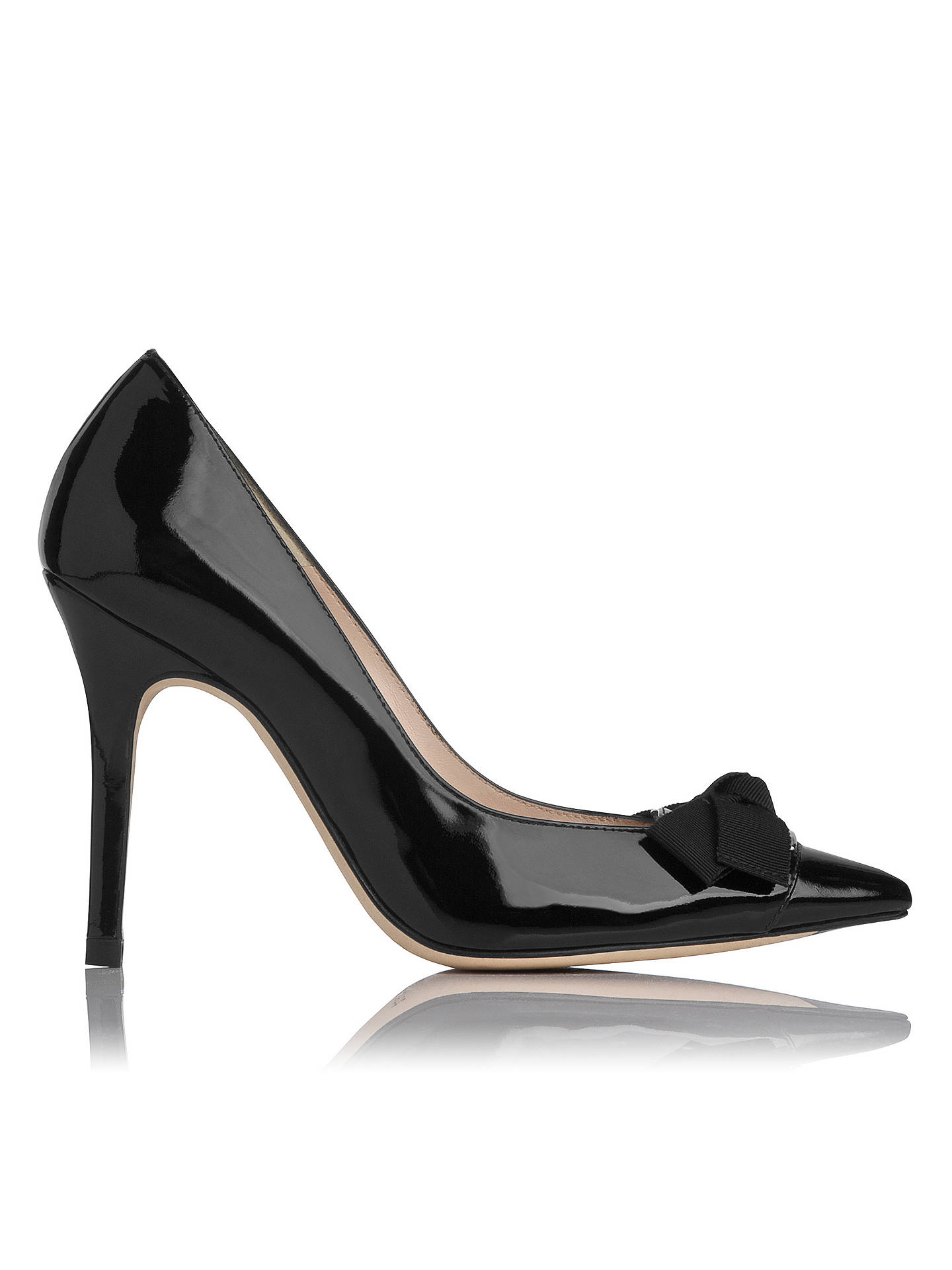 Buy L.K. Bennett Filo Patent Leather Court Shoes, Black, 2 Online at johnlewis.com