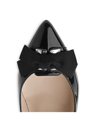 Buy L.K. Bennett Filo Patent Leather Court Shoes, Black, 6 Online at johnlewis.com