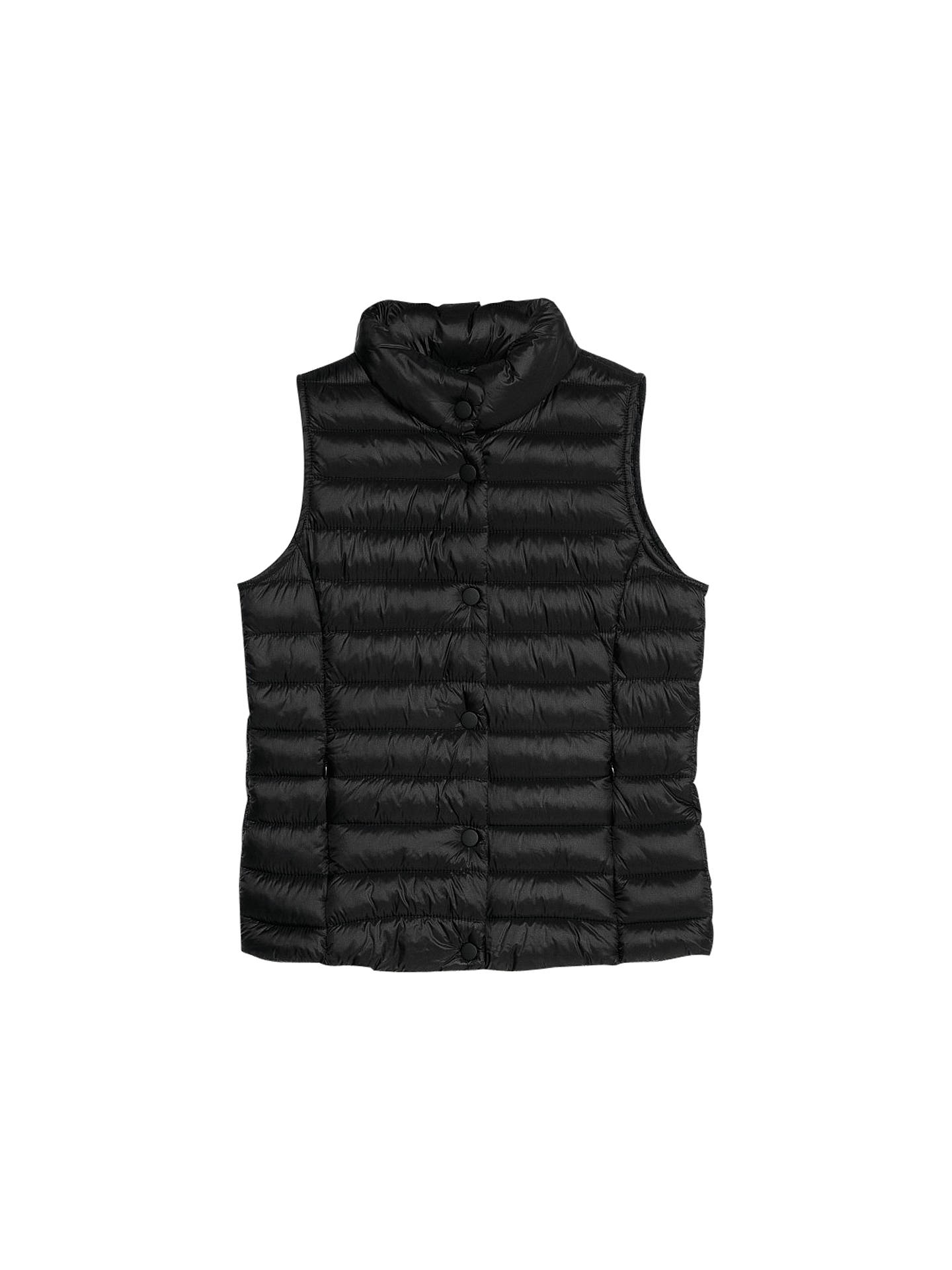 Buy Mango Water Repellent Foldable Gilet, Black, XS Online at johnlewis.com