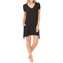 Buy DKNY Urban Essentials Short Sleeve Nightdress, Black Online at johnlewis.com