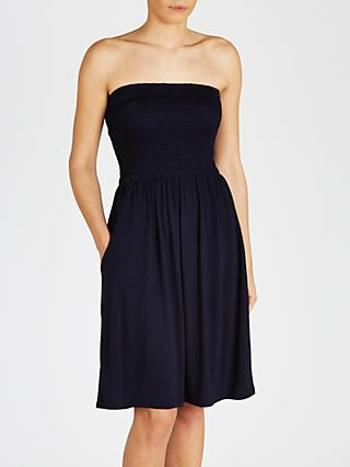 John Lewis & Partners Jersey Bandeau Dress, Navy