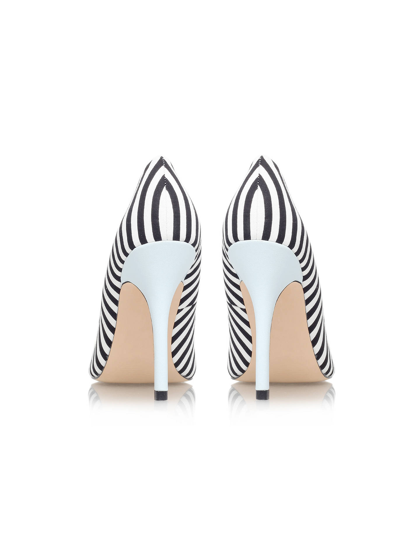 Buy Miss KG Aubrey Pointed Court Shoes, Black/White, 3 Online at johnlewis.com