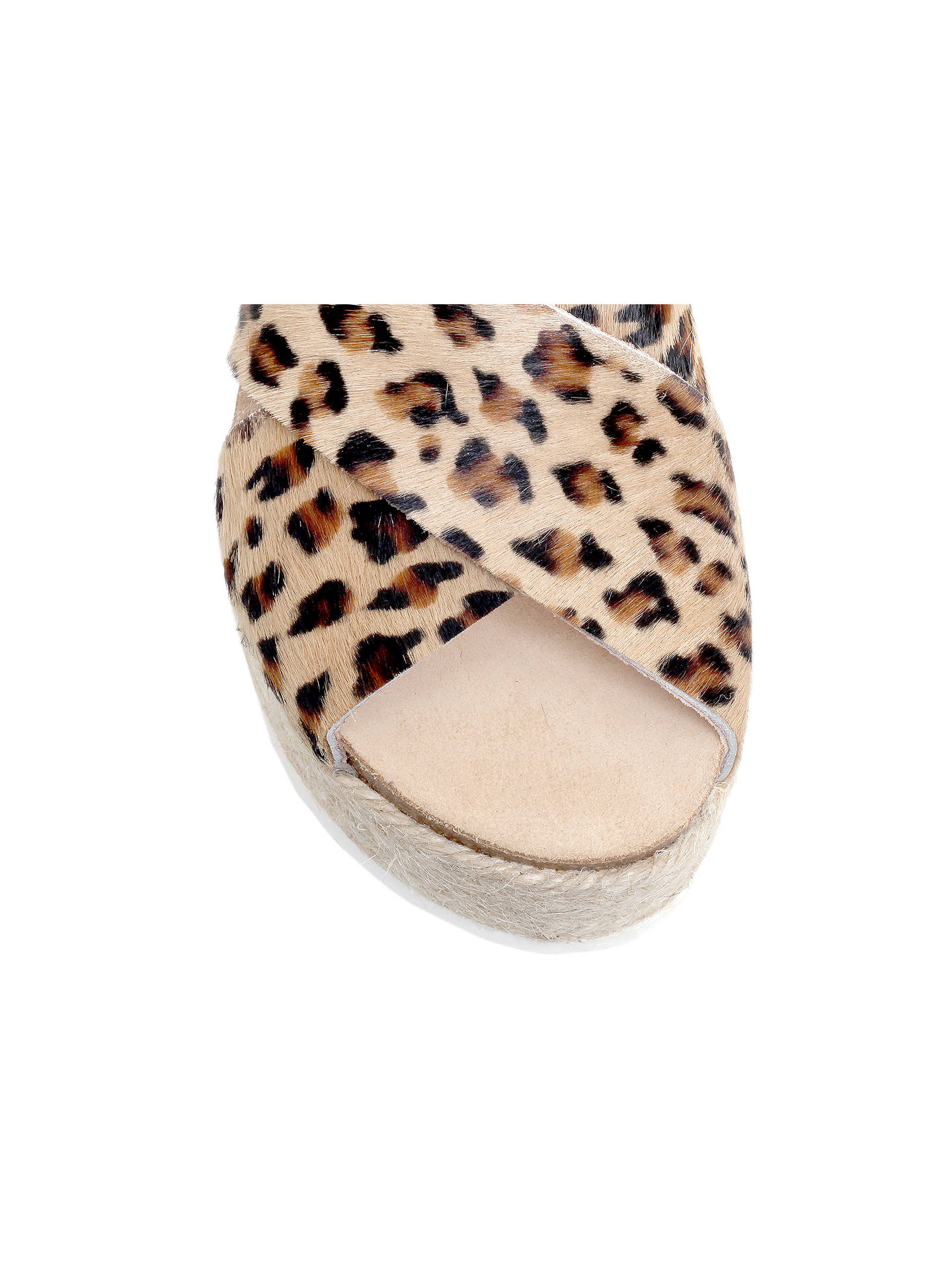 Buy Carvela Kool Flatform Sandals, Leopard Pony, 3 Online at johnlewis.com