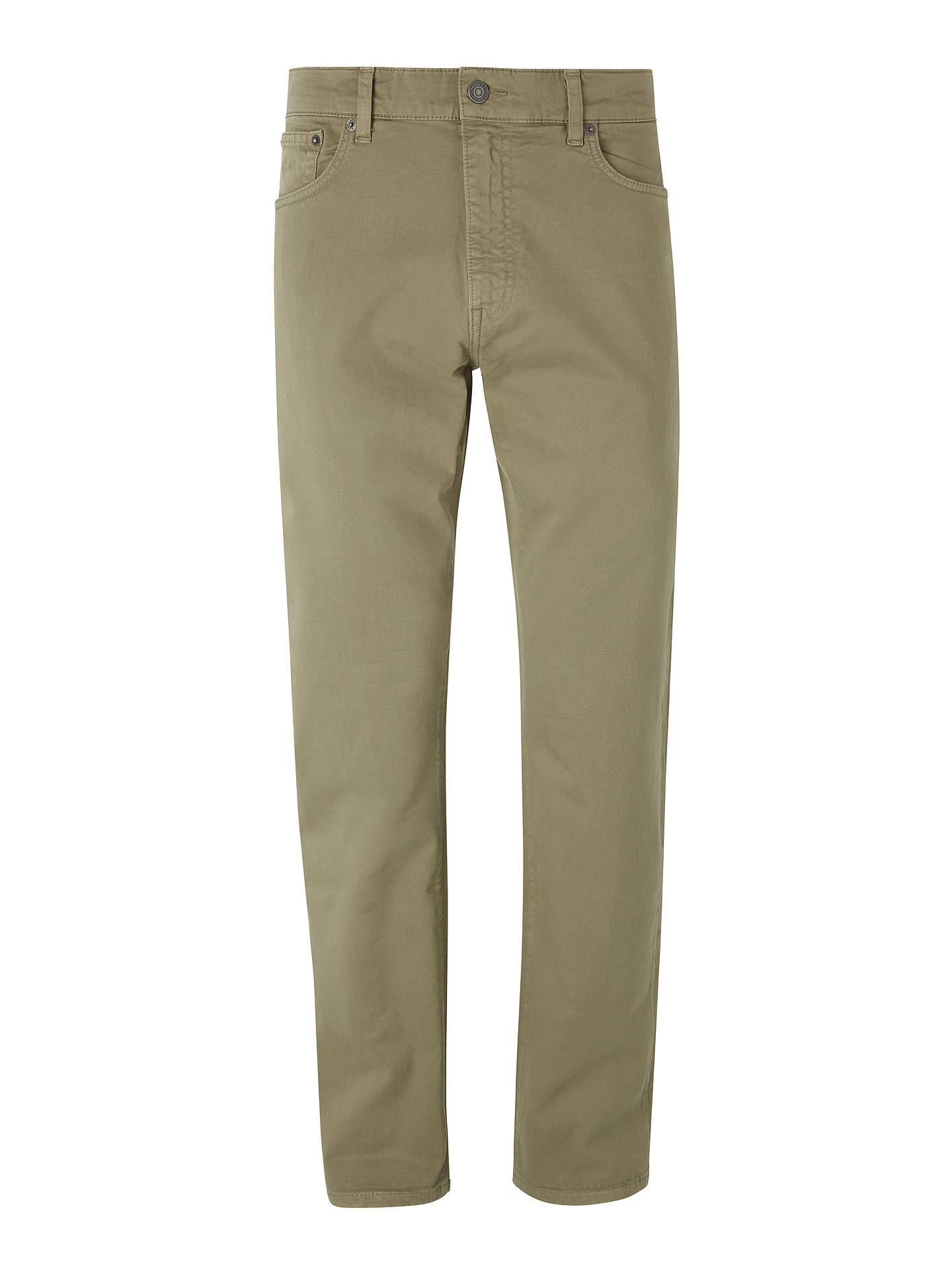 BuyGANT Regular Straight Fit Desert Twill Jeans, Brown, 30S Online at johnlewis.com