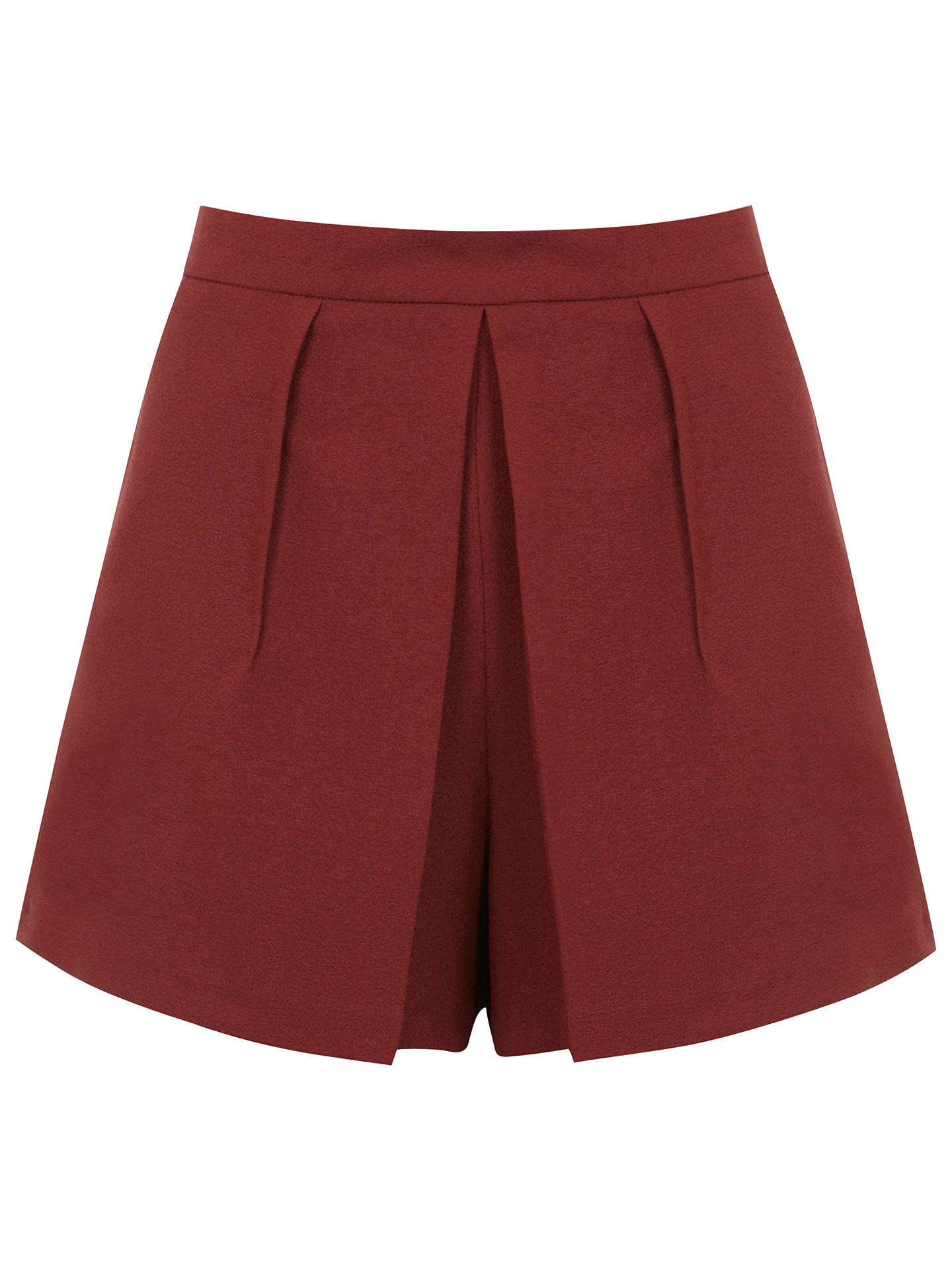 Buy Miss Selfridge Crepe Fold Skort, Rust, 6 Online at johnlewis.com