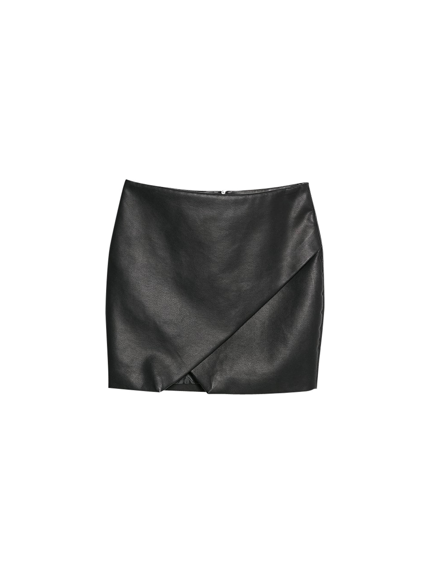 50b45951c1c View All Women's Skirts. Buy Mango Faux Leather Origami Skirt, Black, 6  Online at johnlewis.com