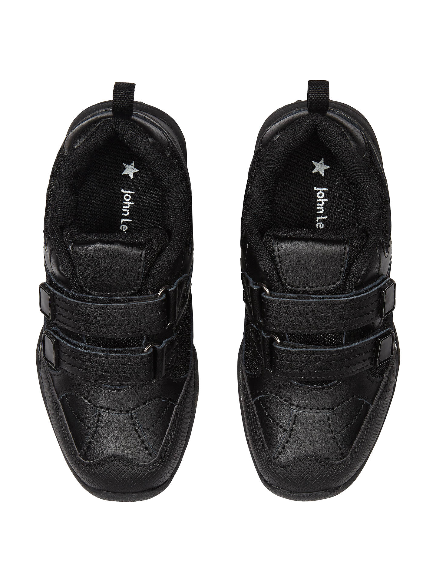 BuyJohn Lewis Stamford Trainers, Black, 8 Jnr Online at johnlewis.com