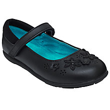 Buy John Lewis Victoria Flower Mary Jane Shoes, Black Online at johnlewis.com