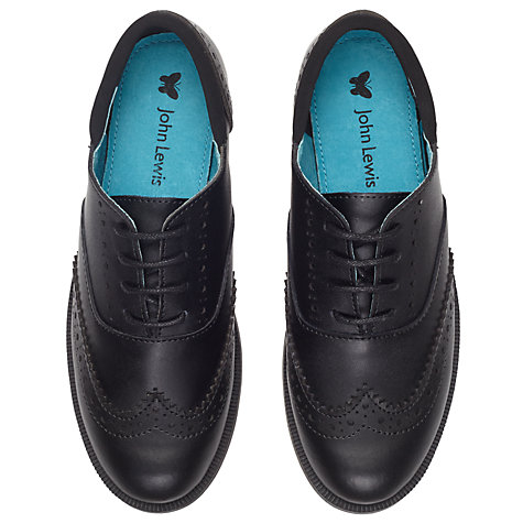 Buy John Lewis Chelsea Lace-up Brogues, Black Online at johnlewis.com