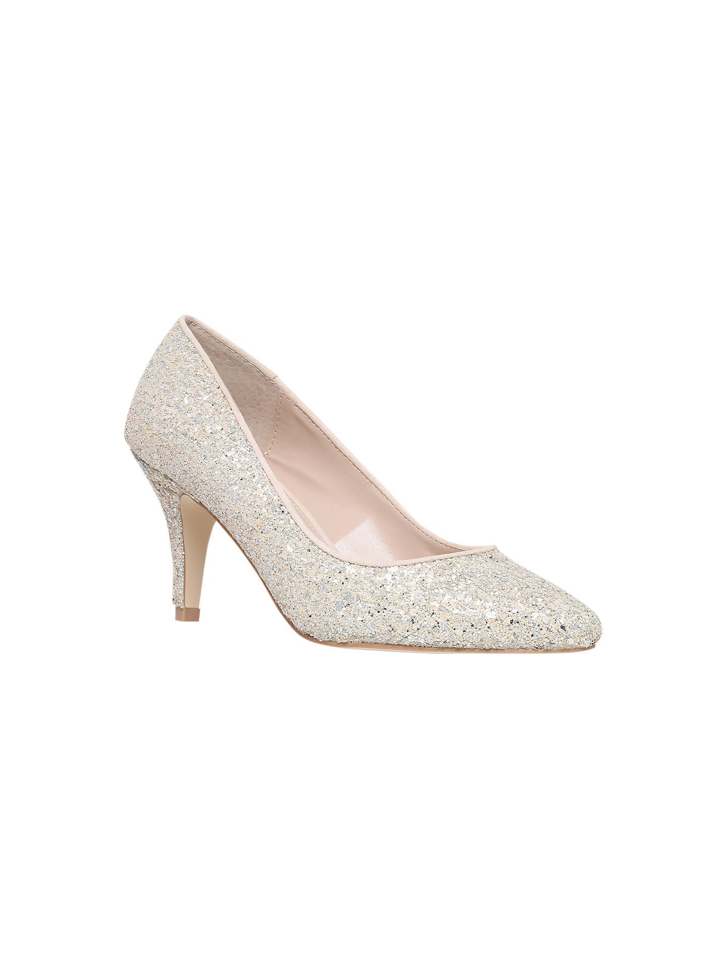 a4f263b9cc8 Carvela Kairo Glitter Court Shoes, Silver at John Lewis & Partners
