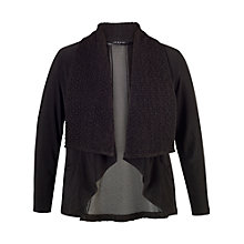 Buy Chesca Cloque Trim Jersey Shrug, Black Online at johnlewis.com