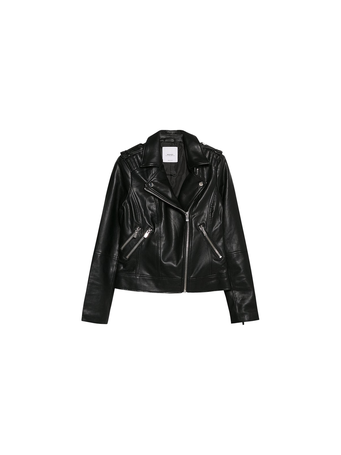 a1dcf9c35 Mango Faux Leather Biker Jacket