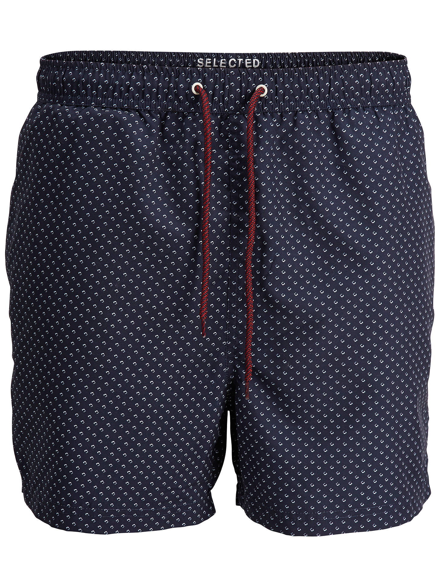 Buy Selected Homme Dot Pattern Swim Shorts, Navy, S Online at johnlewis.com