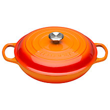 Buy NEW Le Creuset Signature Shallow Cast Iron 30cm Casserole Online at johnlewis.com