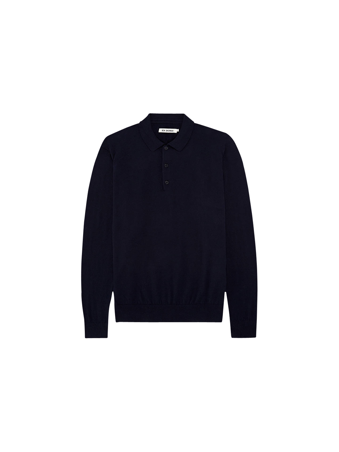 BuyBen Sherman Long Sleeve Knitted Polo Shirt c6697f72afbc