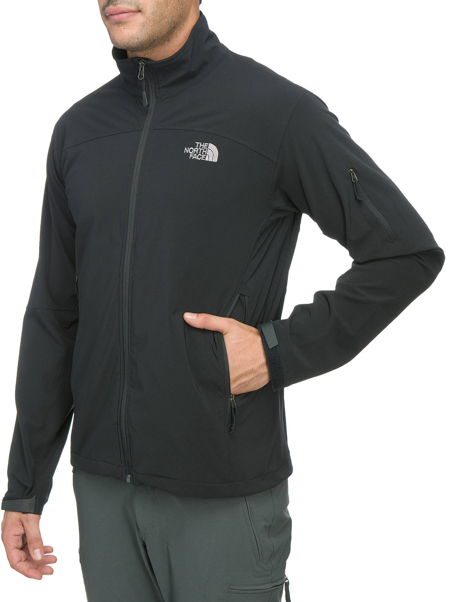 7b8265836 The North Face Soft Shell Ceresio Men's Jacket, Black at John Lewis ...