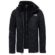 Buy The North Face Evolve II Triclimate 3-in-1 Waterproof Men's Jacket, Black Online at johnlewis.com