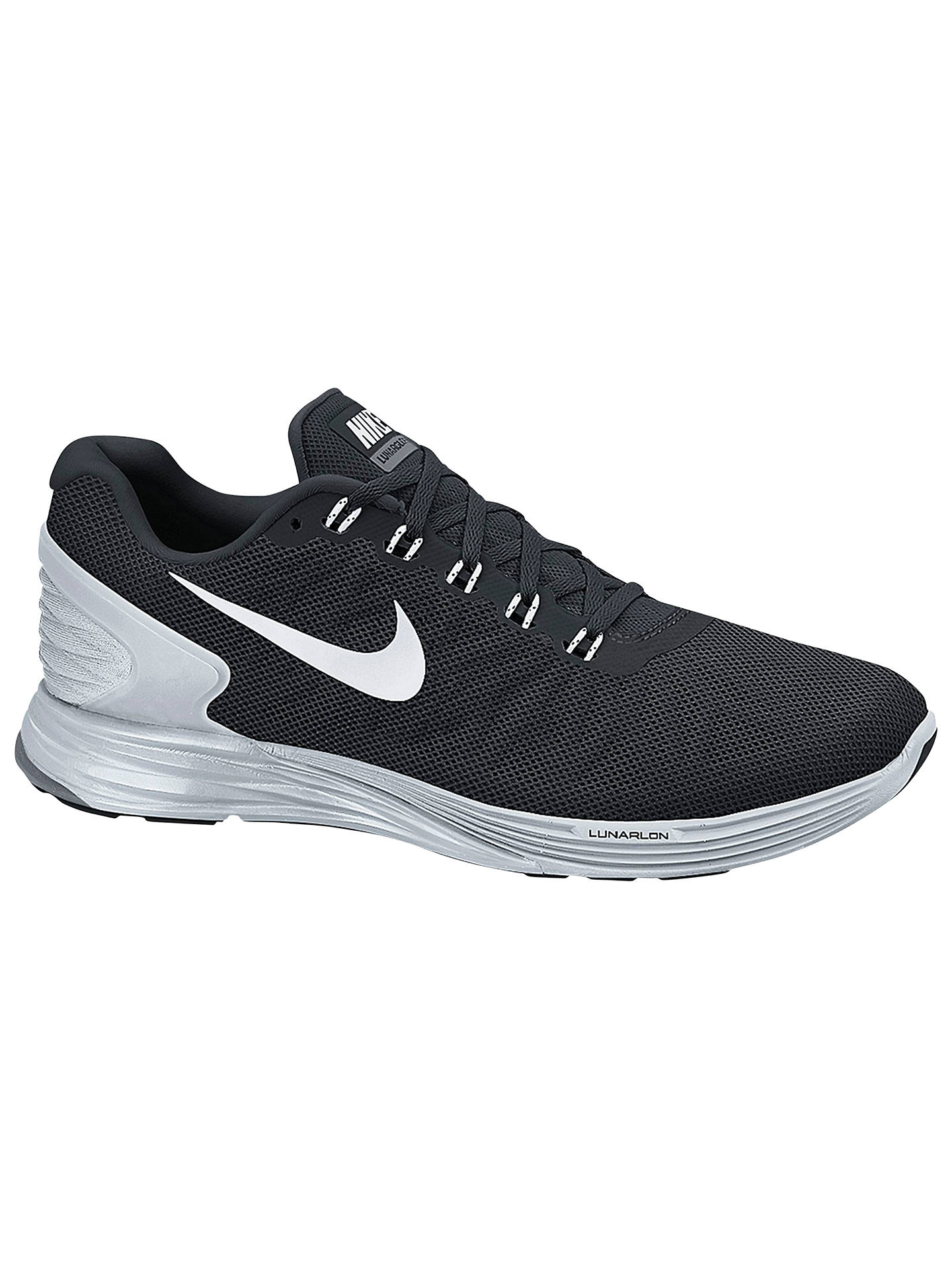 size 40 6cfa6 873a9 Buy Nike LunarGlide 6 Women s Running Shoes, Black, 4 Online at johnlewis.  ...