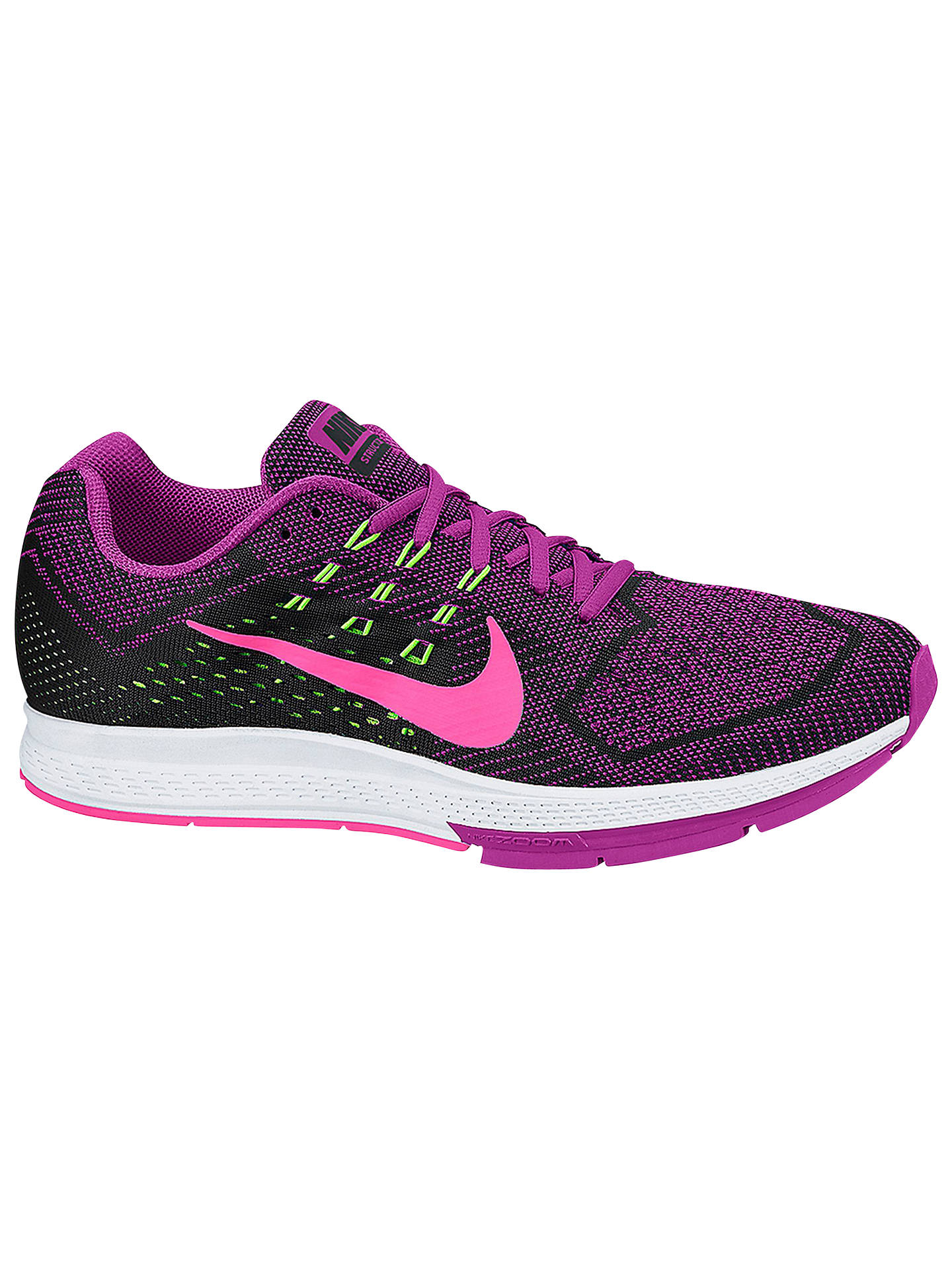 promo code d64af bbb06 Buy Nike Air Zoom Structure 18 Women s Running Shoes, Pink Black, 4 Online  ...