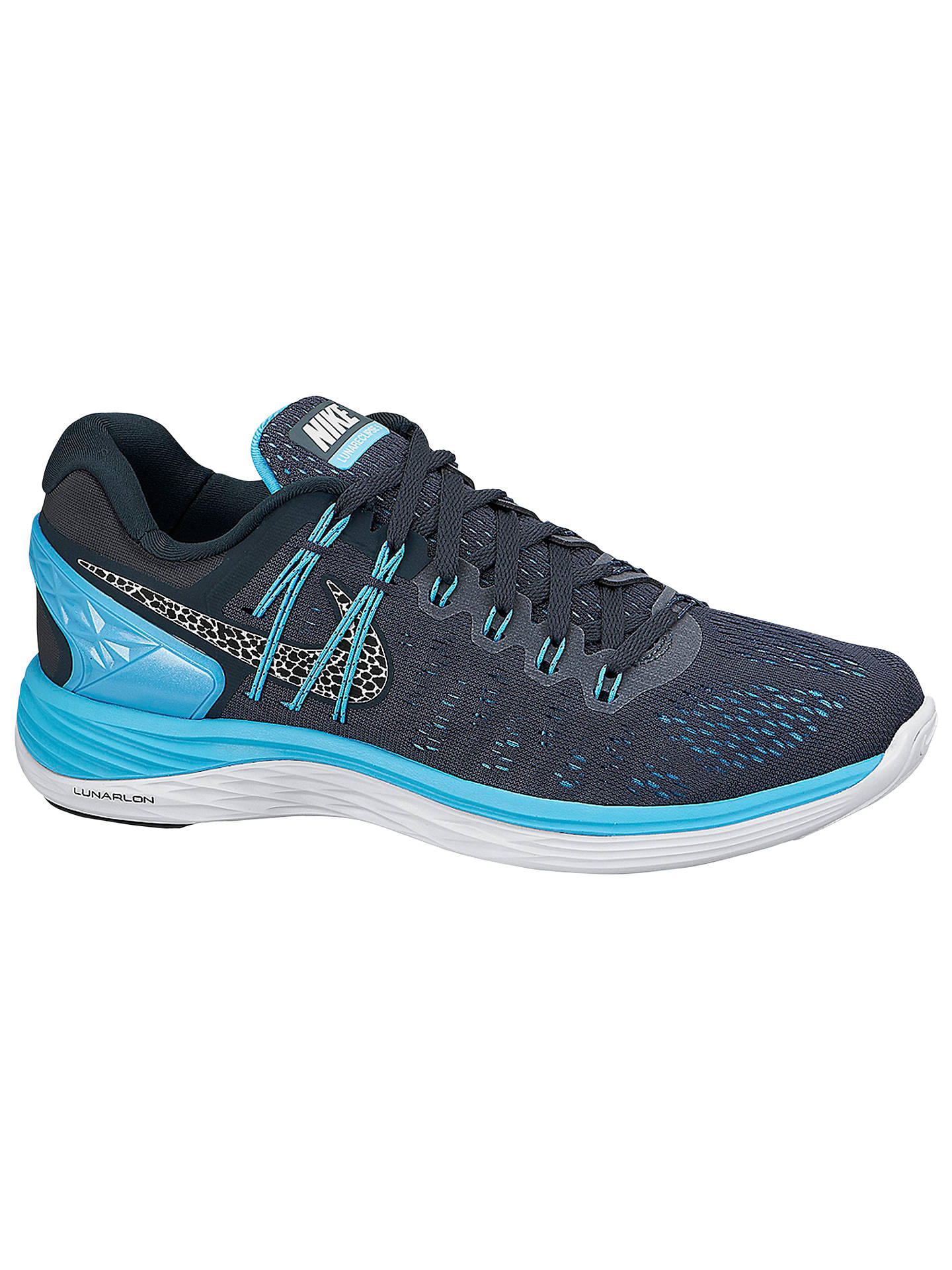 reputable site 4b076 c5e0b Buy Nike LunarEclipse 5 Women s Running Shoes, Grey Blue, 4 Online at  johnlewis ...