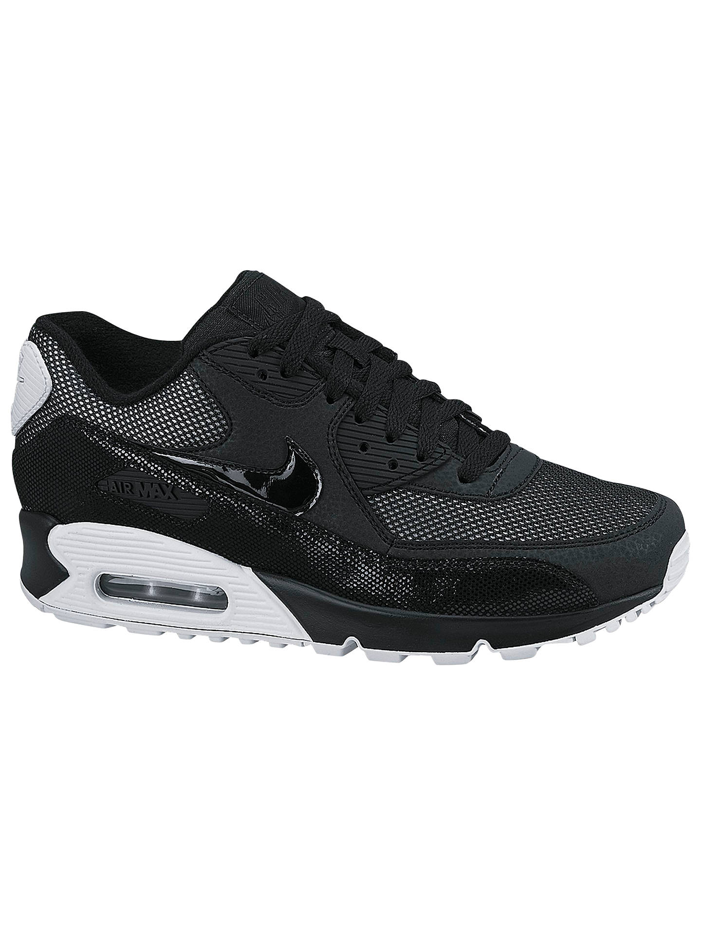 huge discount 9ec05 524a2 BuyNike Air Max 90 Premium Womens Trainers, Black, 3 Online at johnlewis.  ...