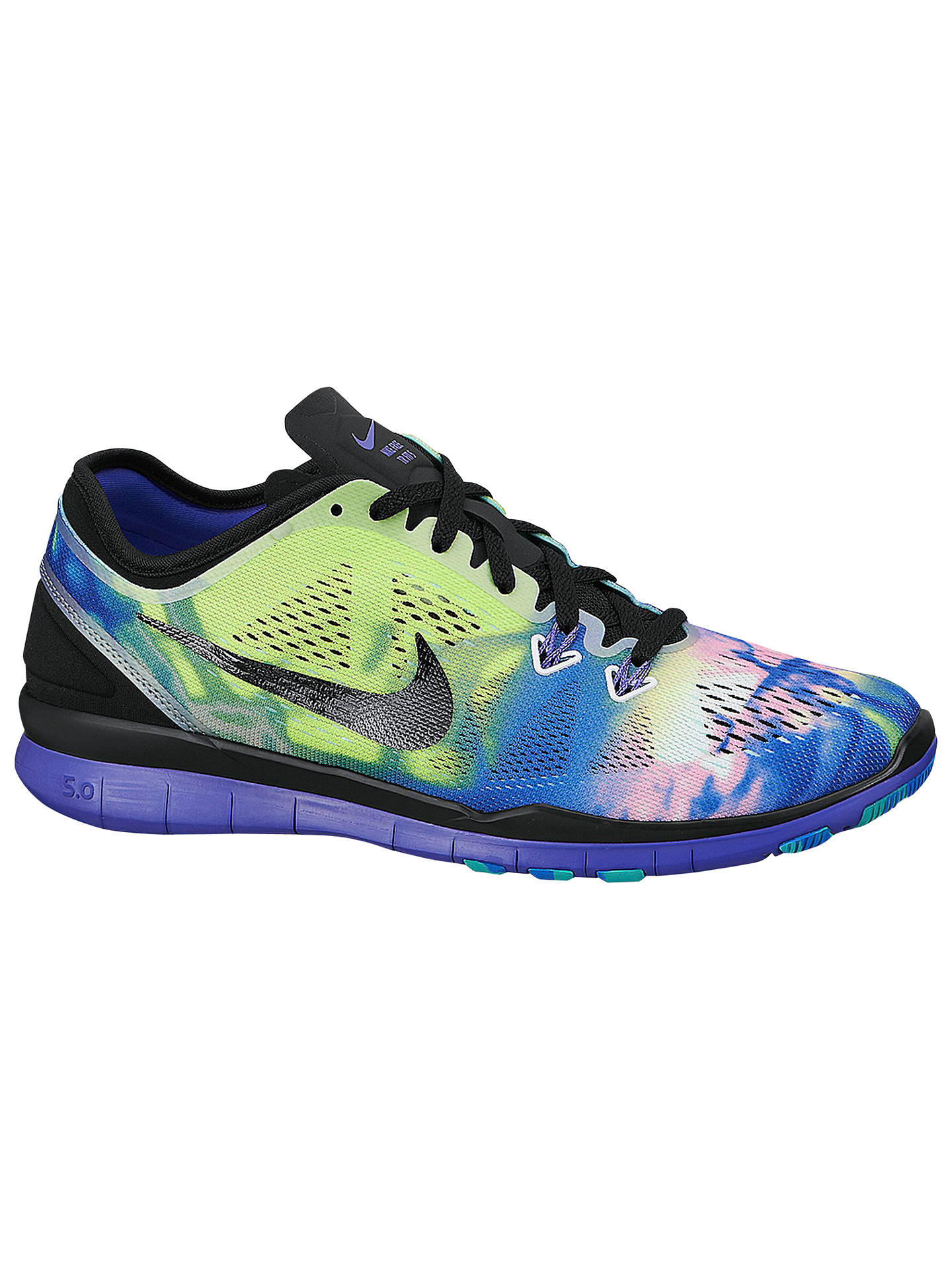online retailer a7fb7 ea4d4 Buy Nike Free TR Fit 5 Print Women s Cross Trainers, Green Violet, 4 ...